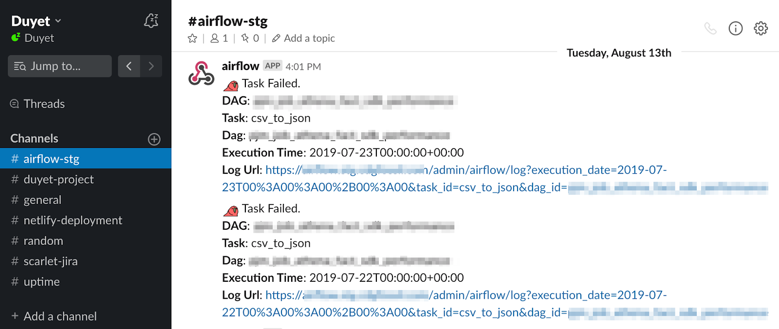 Gửi Slack Alerts trên Airflow