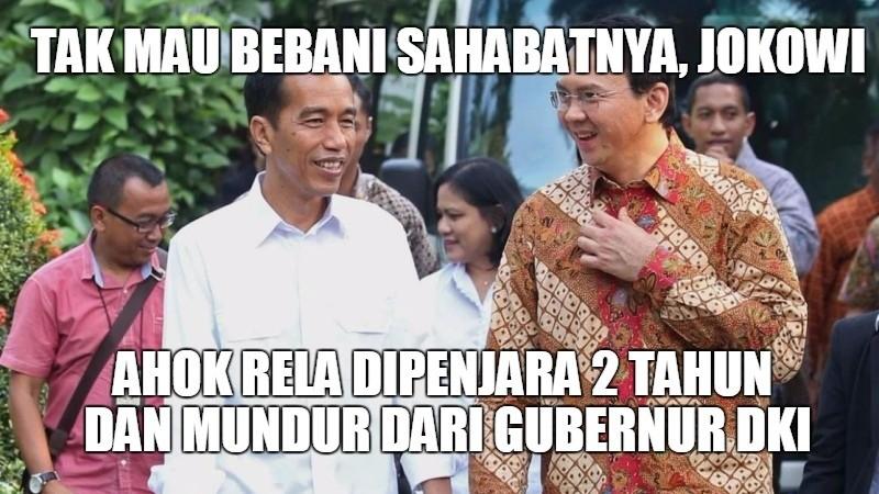 Ahok tak mau membebani Jokowi
