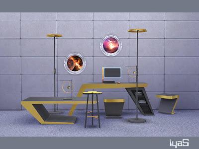 Futuristic set Футуристический набор для The Sims 4 Оставаться впереди современных технологий и дизайна может быть сложной задачей, но эти футуристические предметы мебели предлагают домовладельцам возможность спроектировать свои дома с использованием новейших и самых абстрактных дизайнов мебели.