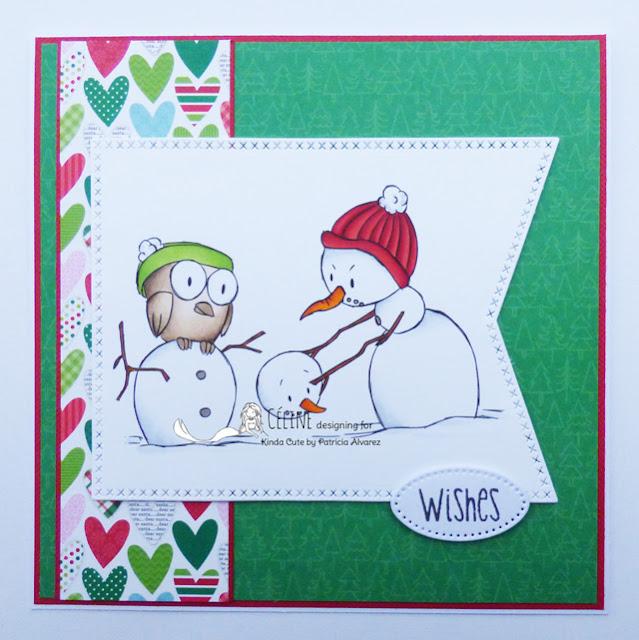 Snowman and Owl card