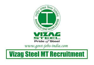 Vizag Steel MT Recruitment 2020