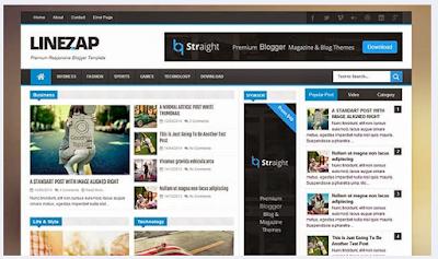 Line ZAP - Template SEO Gaya Majalah Keren