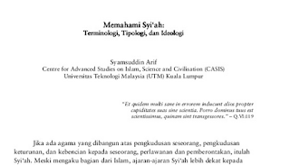 "Download Gratis Ebook ""Memahami Syiah - Kronologi, Ideologi, Tipologi"""
