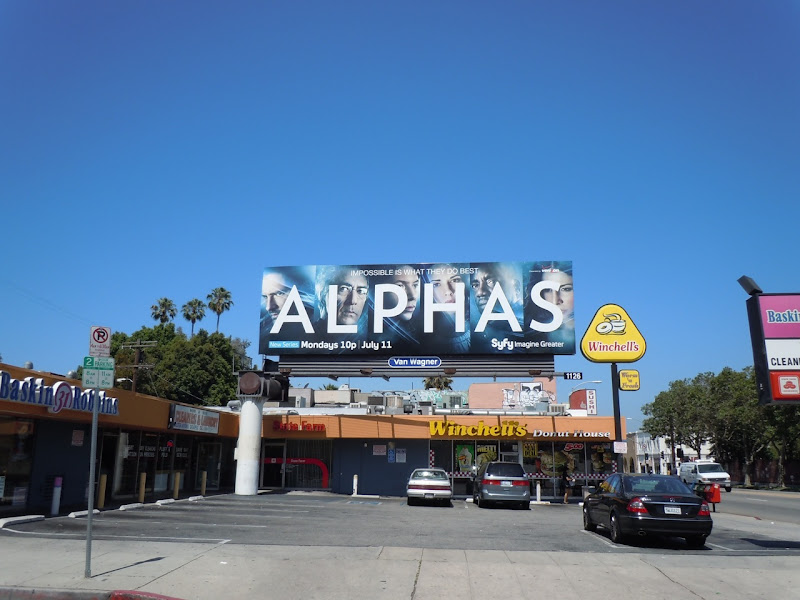 Alphas Syfy TV billboard