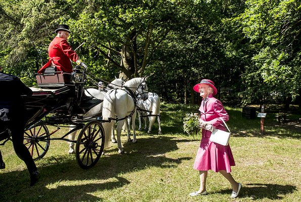 Queen Margrethe II of Denmark attended the official opening of the new national park in Esrum