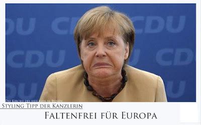 Styling Tipps von Kanzlerin Merkel - Faltenfrei Trick lustiges Spassbild