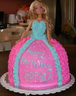 gambar kue ultah barbie