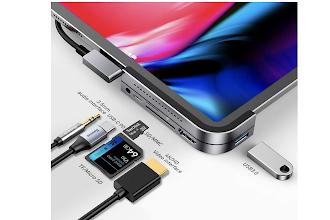 La soluzione perfetta per usare su iPad schede SD, Chiavette USB, HD esterni, cuffie (oggi scontatissima)!