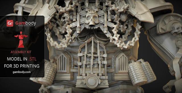 Chaplain Warhammer40k 3D print model