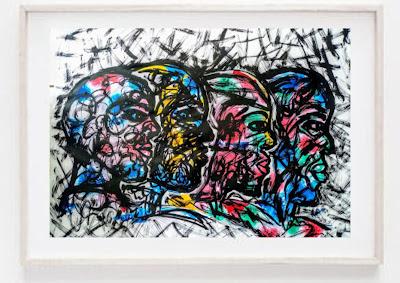 Abstract|Street Art Boys Men Guys, Ink on Paper Board,  By Miabo Enyadike