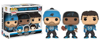 Greg Olsen / Cam Newton / Luke Kuechly Carolina Panthers 3-Pack Pop! NFL Football Vinyl Figures (GTS Exclusive)