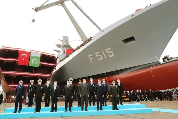 Presiden Turki Recep Tayyip Erdogan Hadiri Peresmian Fregat F515 Istif