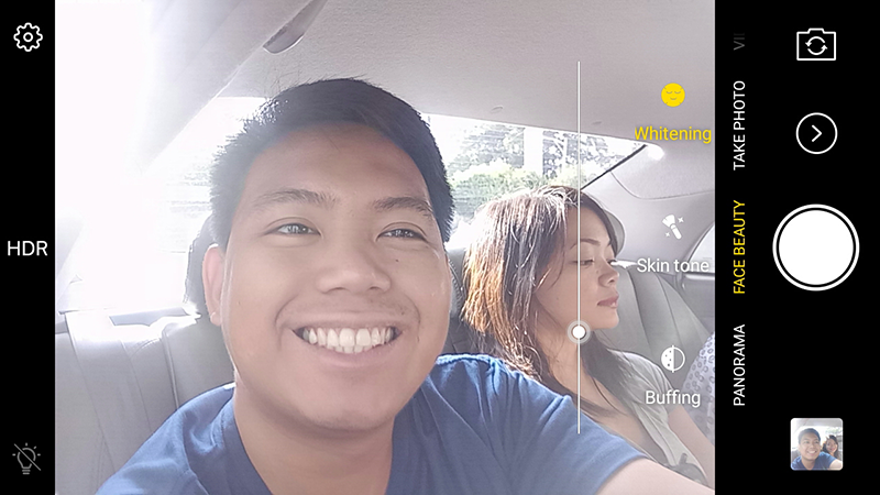 The selfie camera modes