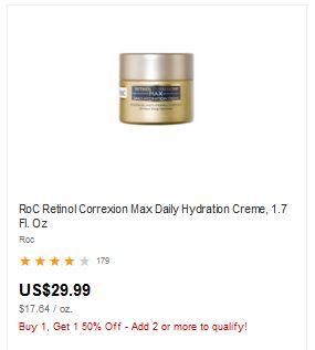 FREE RoC Retinol Creme at CVS