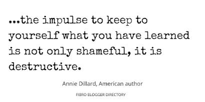 writing tip from Annie Dillard