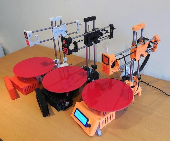 DIY 3D Printing: R-360 simple open source polar 3d printer