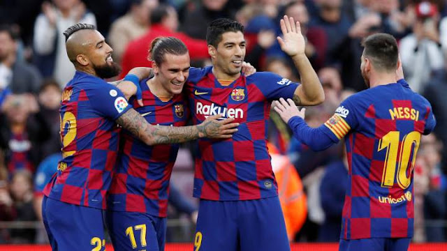 Video Cuplikan Gol: Barcelona 4-1 Deportivo Alaves (LaLiga)