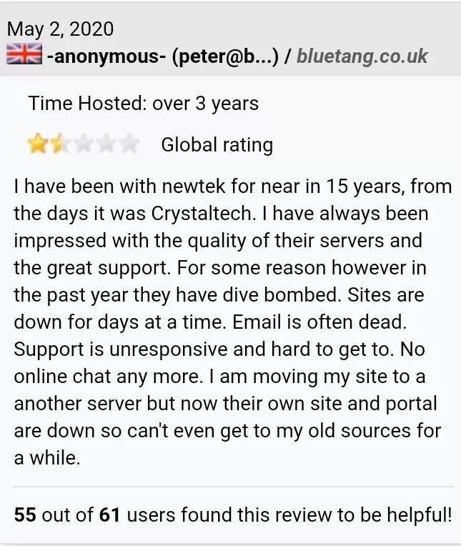 Newtek customer support