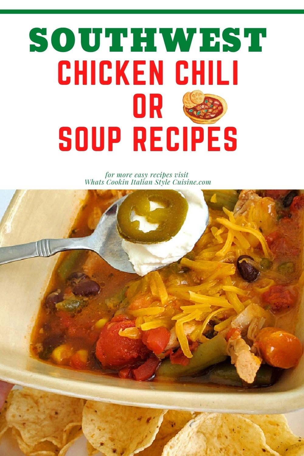 this is a pin for later on how to make a Southwestern chicken soup
