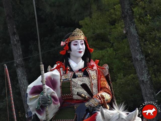 femme déguisée lors du jidai matsuri à Kyoto