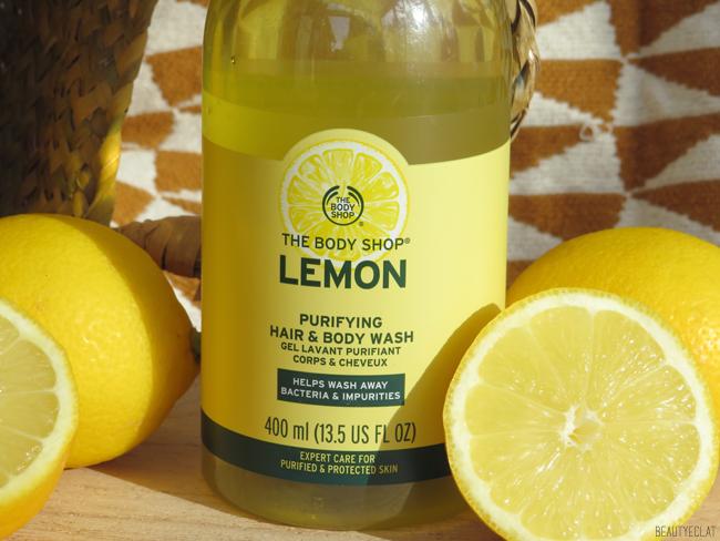 the body shop gel lavant purifiant citron avis