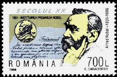 1998 Alfred Nobel,Nobel Prize,Swedish chemist,inventor,dynamite,Romania