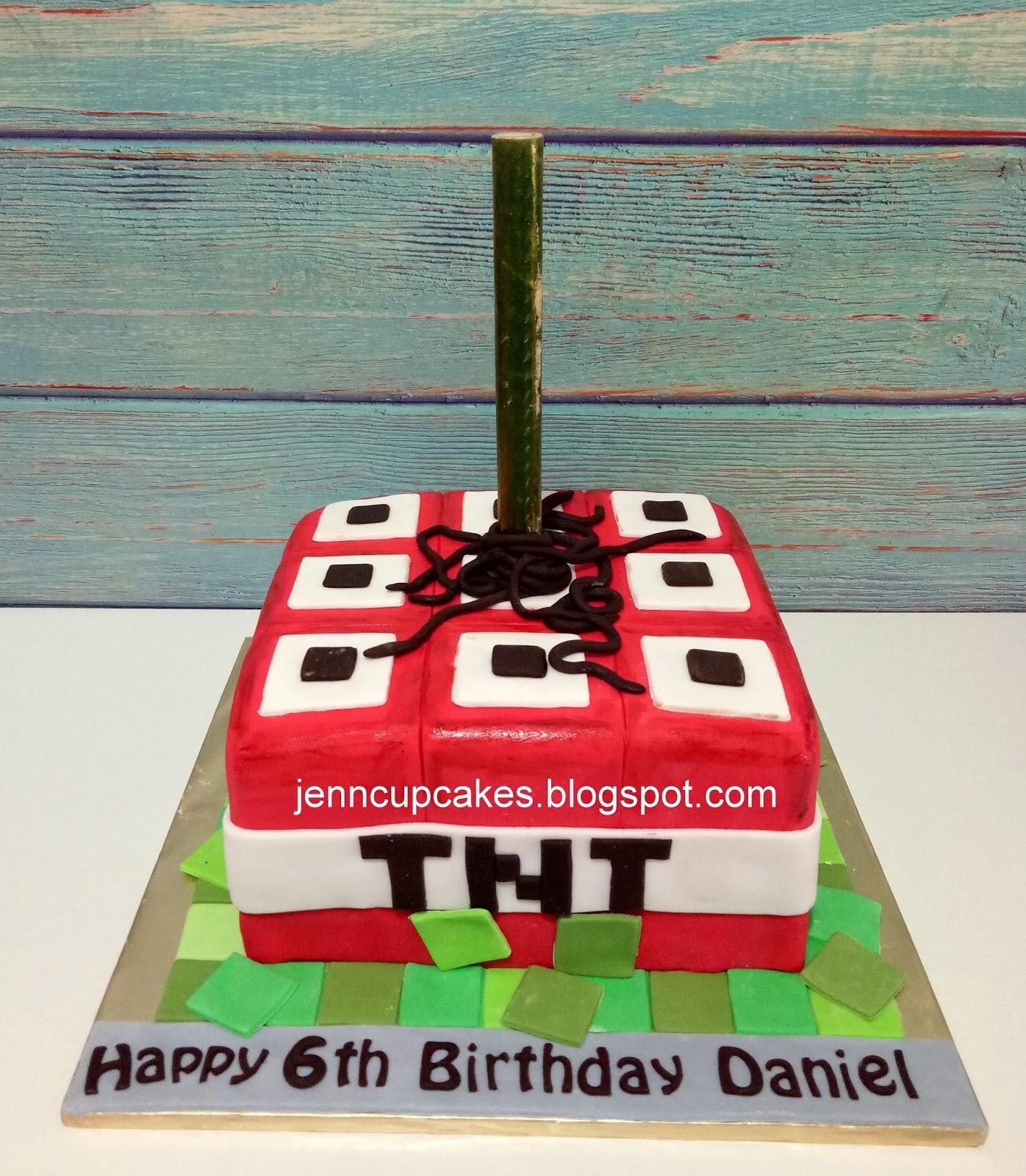 Jenn Cupcakes Muffins Minecraft Tnt Cake