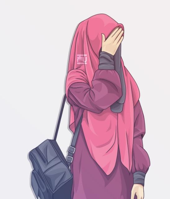vector kartun muslimah