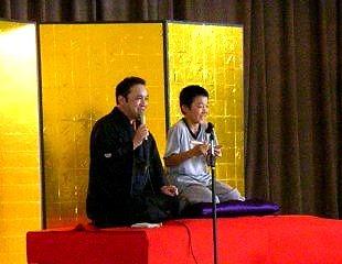 生徒が楽しく落語体験してくれました。