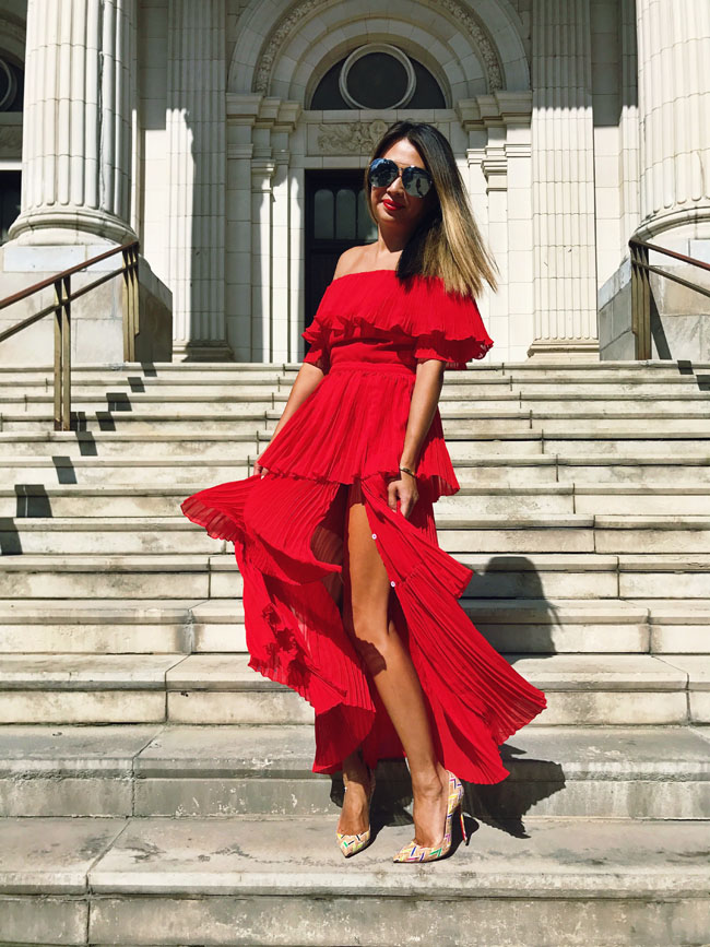 Best Red Off Shoulder Dress, Style steal Red dress, How to Style a Red Dress
