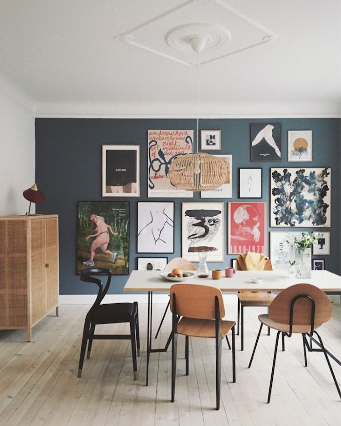 An Art-Filled Apartment in Denmark- design addict mom