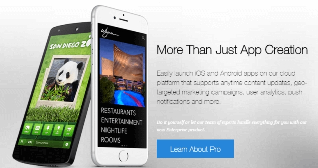 mobile app creator for iphone, android, ipad