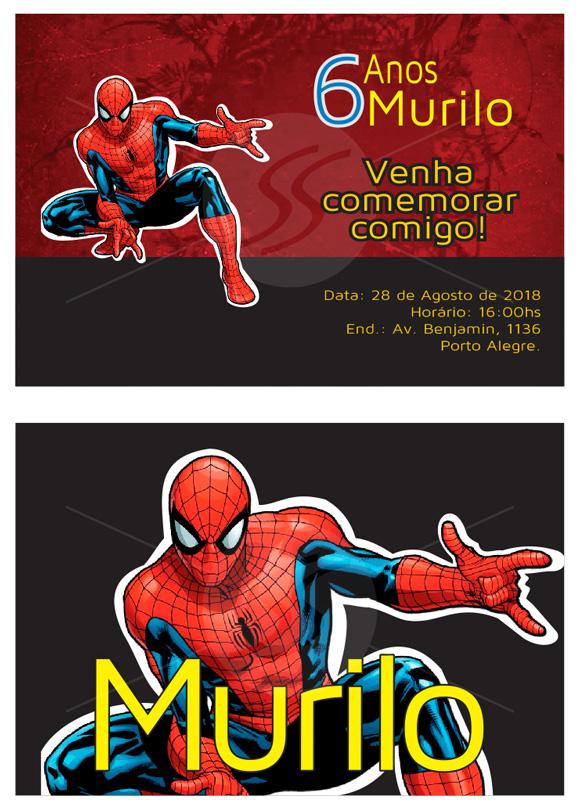 convites aniversario homem aranha 01 - Convites de Aniversário do Homem Aranha