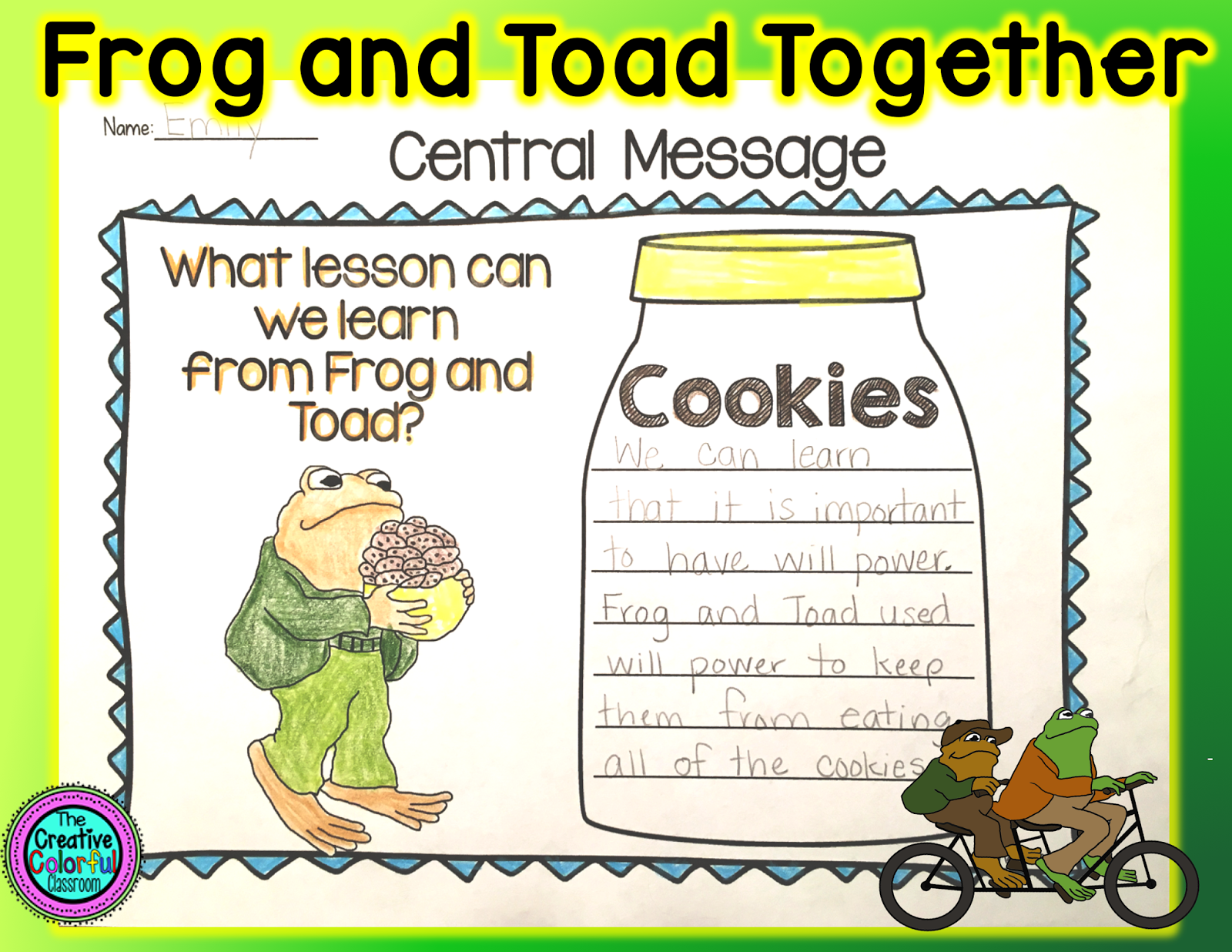 The Creative Colorful Classroom Frog And Toad