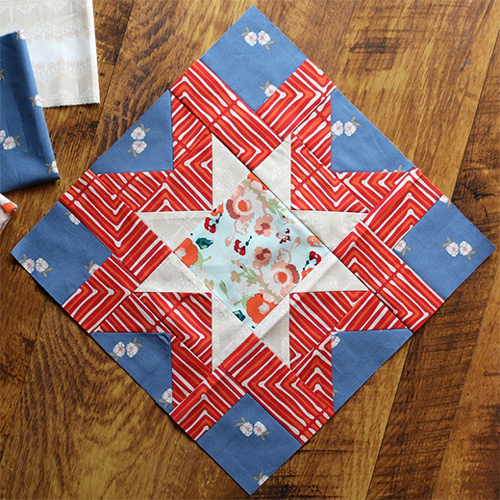 Morning Star Block - Free Pattern