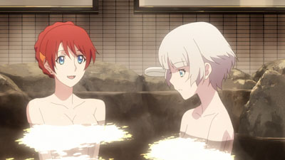 Selesia and Meteora in the hot springs episode.