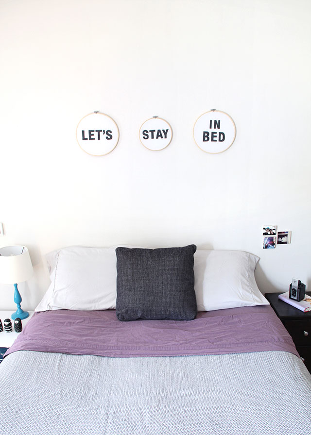 DIY weekend motto: Let's just stay in bed.