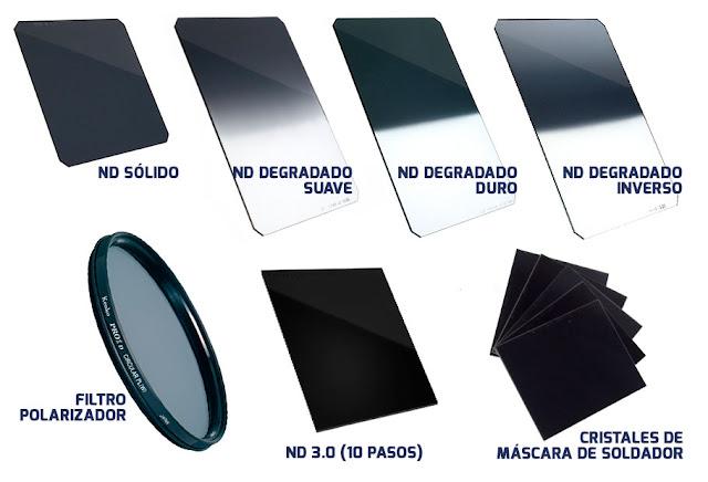 Varios tipos de filtros