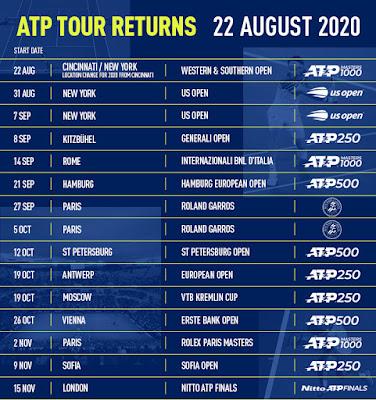 ATP 2020 revised calendar