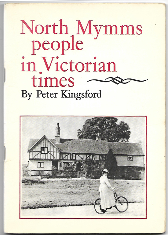 A reproduction of a scan of the cover of the book North Mymms People in Victorian Times ISBN 0951094602