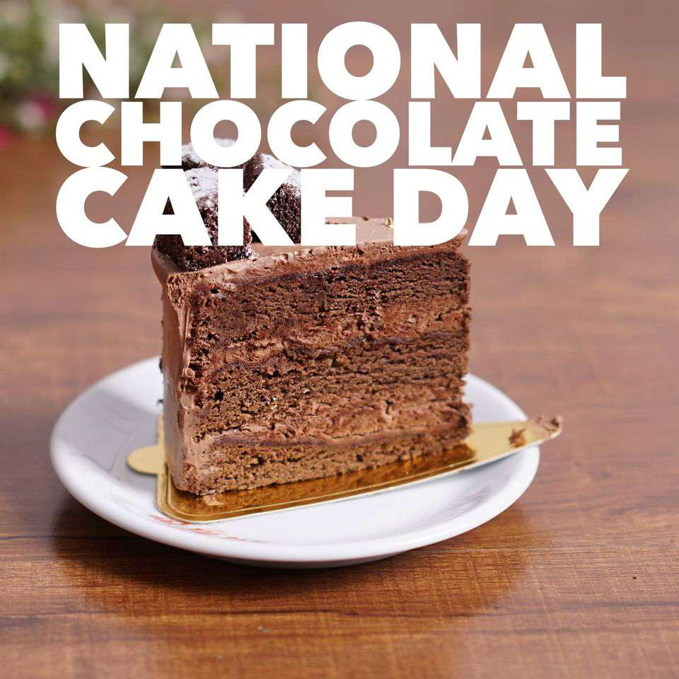 National Chocolate Cake Day Wishes Sweet Images