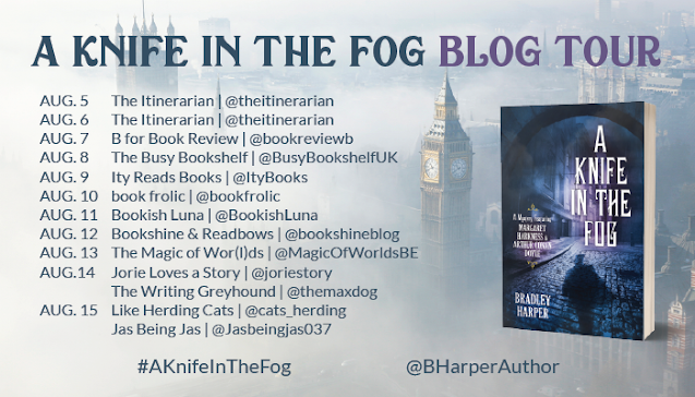 A Knife in the Fog by Bradley Harper book blog tour graphic