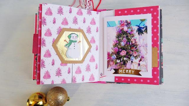 Christmas Shaker Album - Mini Album di Natale con copertina shaker