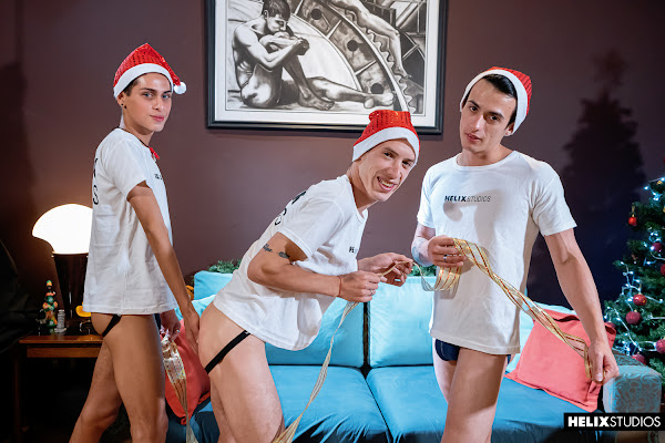 #HelixStudios - Red Hot Festivities | Part 3: Santa's Gift Daryl Briggs, Sly Conan, Tommy Ameal