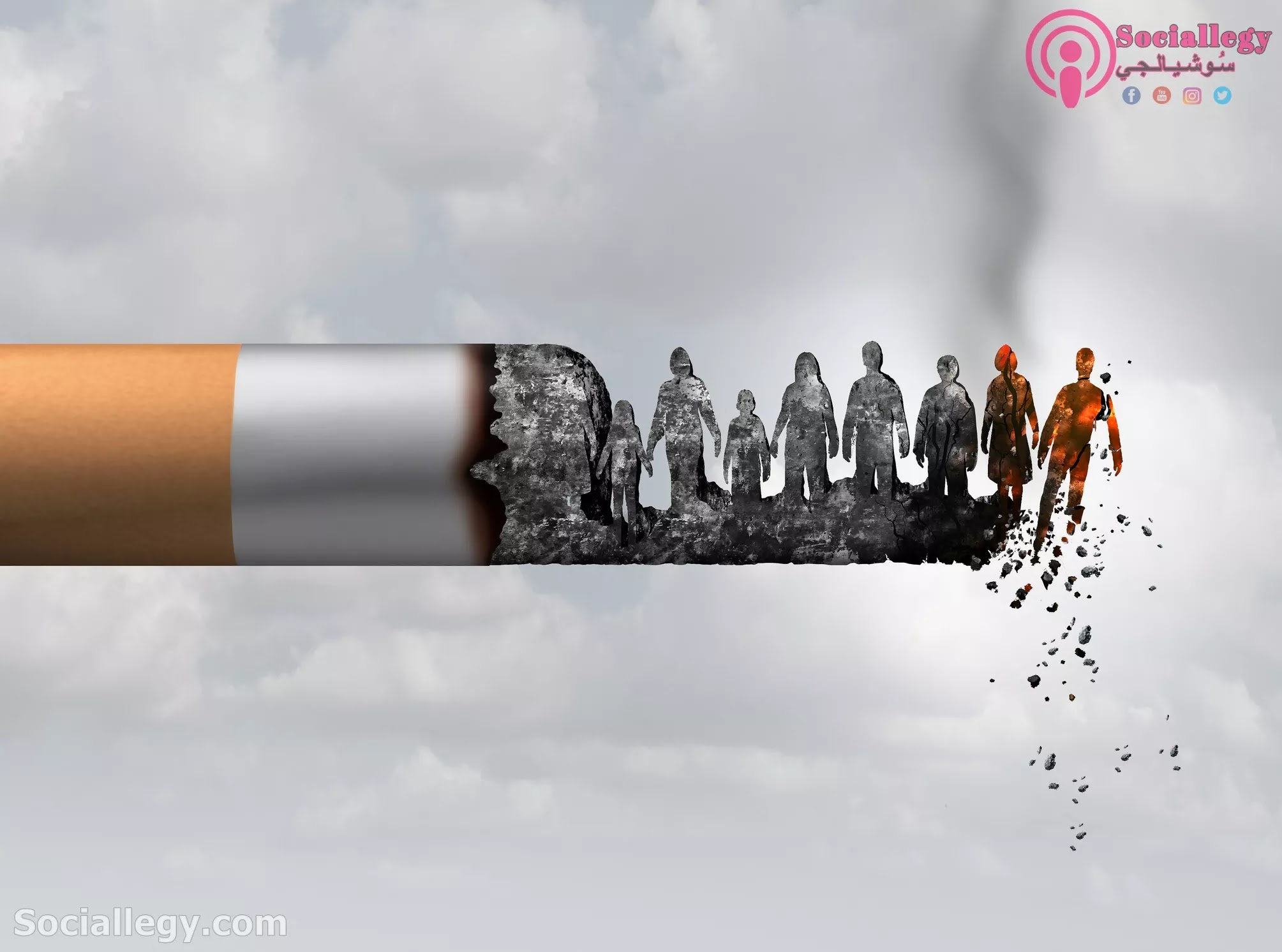 البحث عن حل لمشكلة التدخين