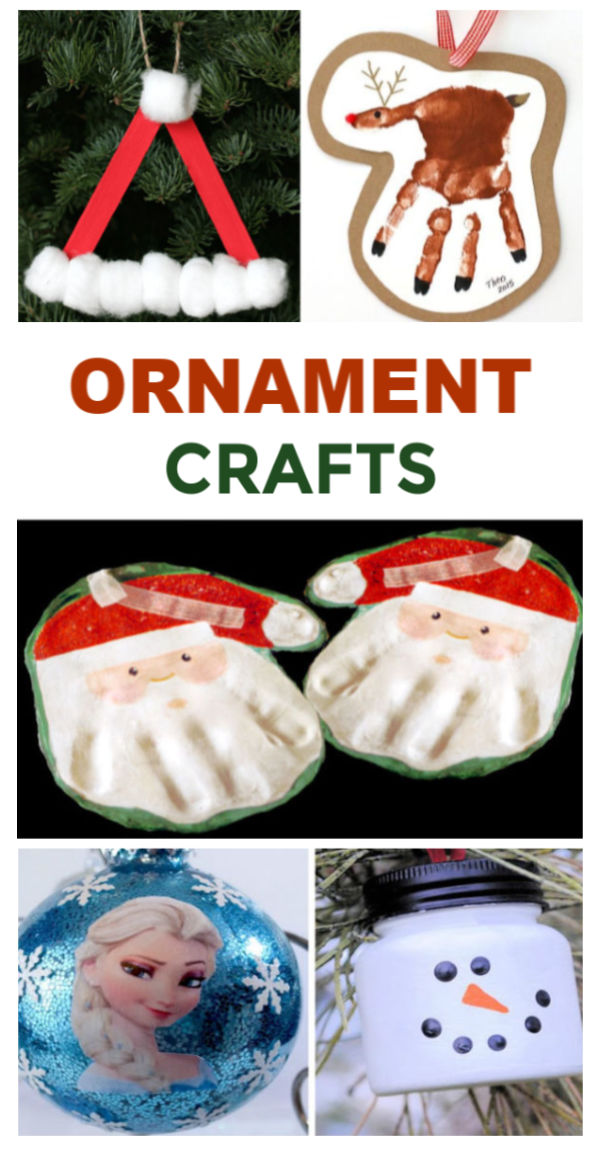50+ Fun & creative Christmas ornaments for kids to make this holiday season.  I love these craft ideas! #ornamentcraftsforkids #kidmadeornaments #ornamentsdiychristmas #ornamentcrafts #ornamentsforkidstomake #ornamentsdiykids #chrismtascrafts #christmasornaments #growingajeweledrose #activitiesforkids