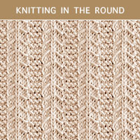 #EasyToKnit Slip Stitch Knitting 28 in the round