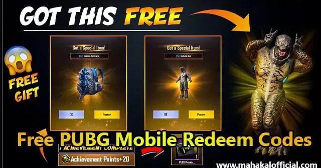 Latest - Free Pubg Mobile Redeem Code 2020 - Mahakal Official