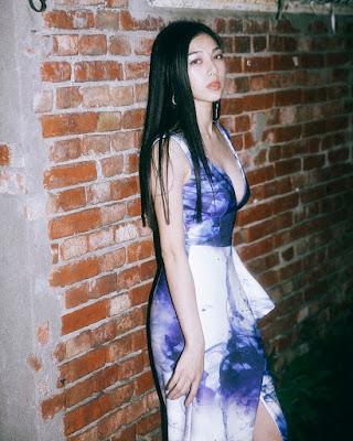 Mayavi Matsunoi cantik dan manis gaun ungu