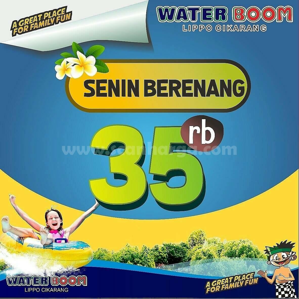 Waterboom Promo SENIN BERENANG cuma Rp 35.000*